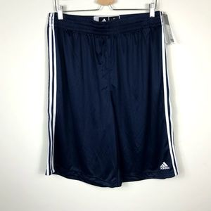 Adidas Practice Shorts Navy Blue White Stripe XLT
